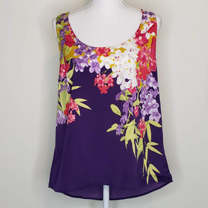 Apt. 9 NWT purple floral camisole